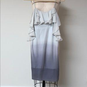 Rebecca Taylor Dip Dye Ruffle Dress